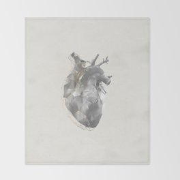 golden polygon heart Throw Blanket