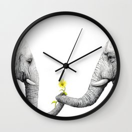 """Up Close You Are More Wrinkly Than I Remembered"" Wall Clock"