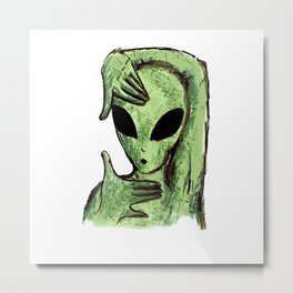 Alien Vogue Madonna Metal Print