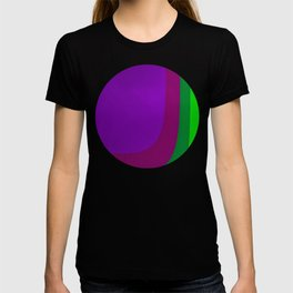 Purple on the Left Side T-shirt
