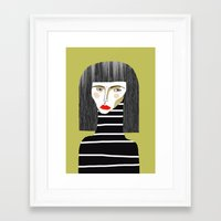 fashion illustration Framed Art Prints featuring Fashion Illustration. by Ashley Percival illustration