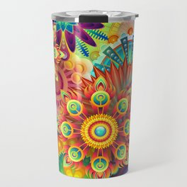 Colorful Abstract Travel Mug
