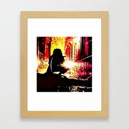 The Shadow Cleaner Framed Art Print