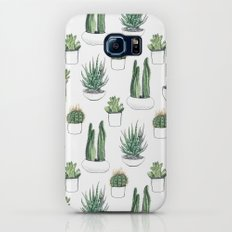 watercolour cacti and succulent Galaxy S6 Slim Case