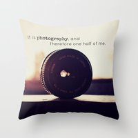 tool Throw Pillows featuring Photographer's Tool  by Jo Bekah Photography