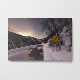 Dead End at Lambs Cayon Metal Print