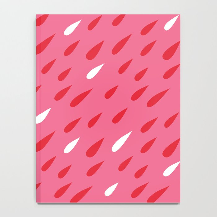 Red + Pink Droplets Notebook