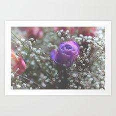 Blue Rose In Love Art Print