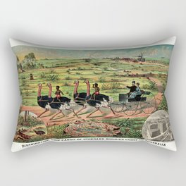 Distributing ship cargo of buggies Ohio to Australia Rectangular Pillow