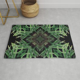 Plant Psychedelic Arts - Patterns - Green Plants - Plant Medicine Rug