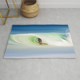 SURFING THE RIP CURL Rug