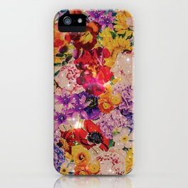 Warm bright interstellar blooms iPhone Case