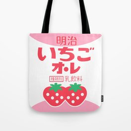 kawaii japanese strawberry milk Tote Bag