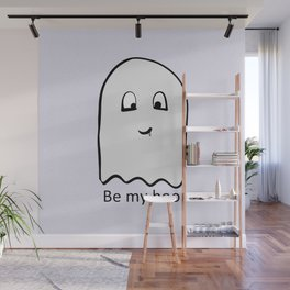Cute Ghost Flirting: Be My Boo Wall Mural