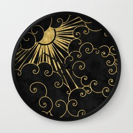 The Sun Always Shines Behind The Clouds Wall Clock