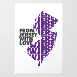 From Jersey with Love Art Print