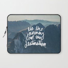 It's the journey not the destination forest camping nature print Laptop Sleeve
