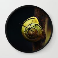 snail Wall Clocks featuring Snail by LoRo  Art & Pictures