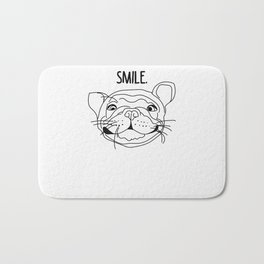 Smile - Frenchie Bath Mat