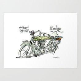 RUDGE, 1911 motorcycle, UK Art Print