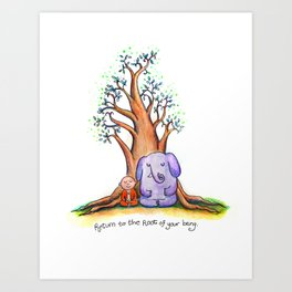 Root of Being Art Print