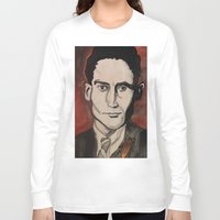 kafka Long Sleeve T-shirts featuring Franz Kafka by Emily Storvold