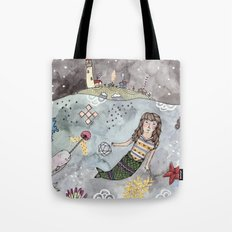 Mermaid and Narwhal Friend Tote Bag