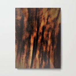 Retro abstract textured design Metal Print