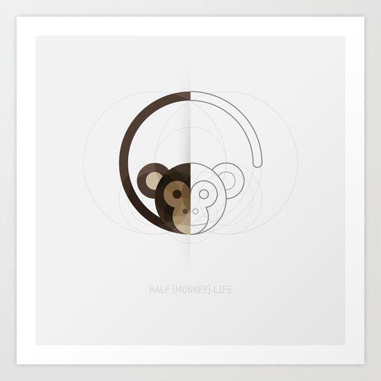 HALF (monkey) LIFE Art Print