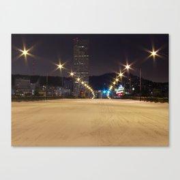 Snowlandia Night Canvas Print