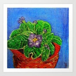 African Violet in Oil Art Print