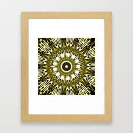 Yellow White Black Sun Explosion Framed Art Print