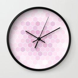 Pink Tiles Wall Clock