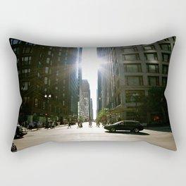 Sun Between Buildings Rectangular Pillow