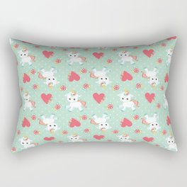 Baby Unicorn with Hearts Rectangular Pillow
