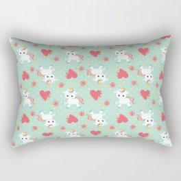 Baby Unicorn with Hearts Rectangular Pillow