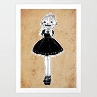 Pumpkin Lollita Art Print