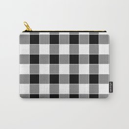 Buffalo Check - black / white Carry-All Pouch