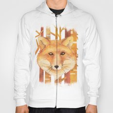 Fox in the forest- Animal abstract watercolor illustration Hoody