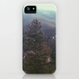 vintage forest background iPhone Case