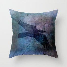 The Night Raven Throw Pillow