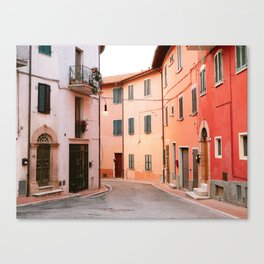 Colorful streets of Italy   Fine art travel photography print Europe Canvas Print