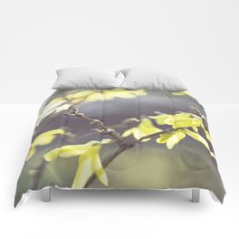 yellow spring Comforters