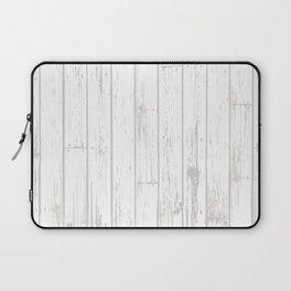 Wooden Planks - White Laptop Sleeve