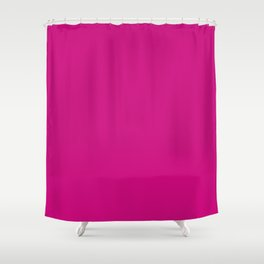 Flirty Tulip Fuchsia Pink Solid Color Shower Curtain