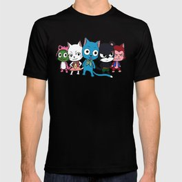 Fairy Tail Cats T-shirt