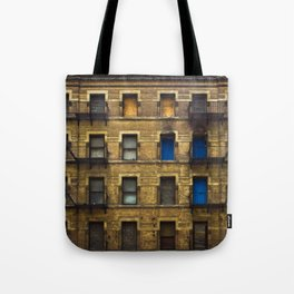 CONDEMNED WITH 3 BLUE DOORS Tote Bag