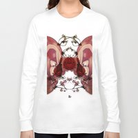 in the flesh Long Sleeve T-shirts featuring Flesh&Roses by AP Illustration