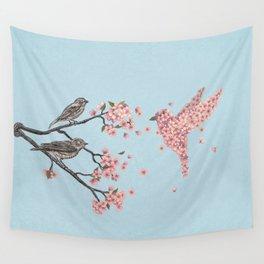 Blossom Bird  Wall Tapestry