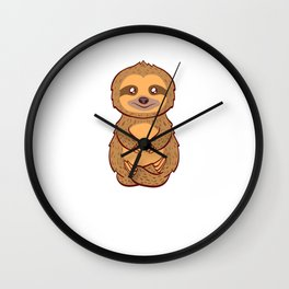 """For Animal Lovers Great Sloth Shirt For Animal Lovers """"Stay Low Key"""" T-shirt Design Lazy Sleepy Wall Clock"""